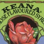 Colorful Printable Vintage Rose Syrup Bottle Label