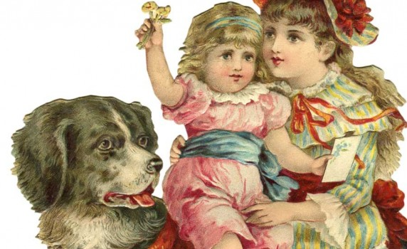 vintage-children-pet-dog-thumb