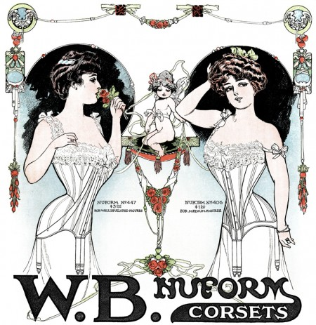 Beautiful Vintage Women's Corset Advertisement - Click for printable artwork