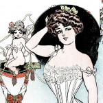 Beautiful 1900's Vintage Women's Corset Ad Artwork