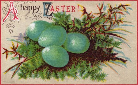 Vintage Happy Easter Postcard - Click for printable postcard