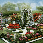 Vintage Annual Flower Formal Garden Plan