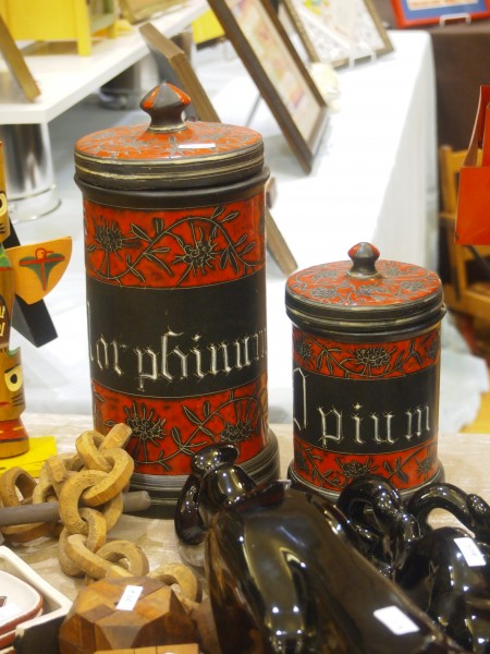 Vintage Opium & Morphine Pharmacy Canisters
