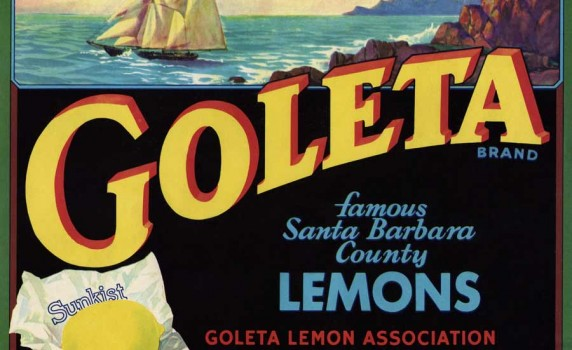 Printable Vintage California Lemons Crate Label - Click for larger print image