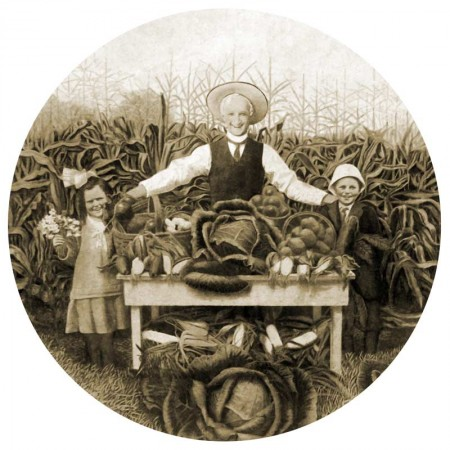 Vintage Garden Harvest Catalog Photograph - Sepia Tone - Click for printable picture