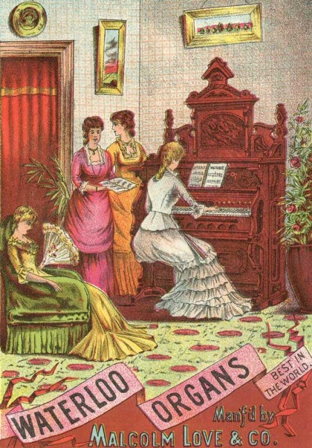 Vintage Waterloo Organs Trade Card Advertisement - Click for instant art printable