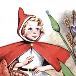 Vintage Little Red Riding Hood Illustration from a Children's Book