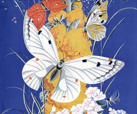 Gorgeous Vintage Butterfly Magazine Cover Illustration - Click for larger scan to print