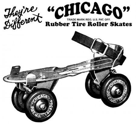 Vintage Ad for Chicago Rubber Tire Roller Skates - Click for larger print image