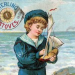 Vintage Sailor Boy Victorian Trade Card Artwork