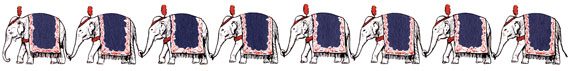 Vintage Circus Elephants Banner - Click for printable clip art