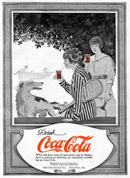 Vintage Coca-Cola Ad from the Summer of 1917 - Click for larger printable advertisement