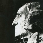 Vintage Travel Photo of George Washington on Mount Rushmore