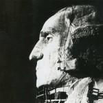 Vintage Travel Photo of George Washington on Mount Rushmore