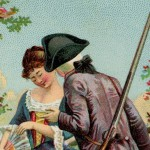 Lovely Illustration of a Revolutionary War Couple Saying Goodbye