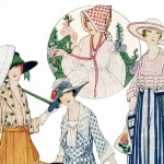 Early 1900's Summer Dresses Fashion Magazine Illustration