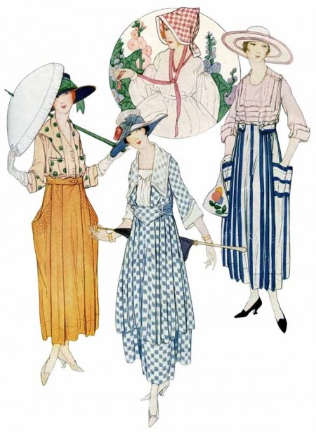 Vintage Early 1900's Summer Dresses Fashion Magazine Illustration - Click for larger printable art