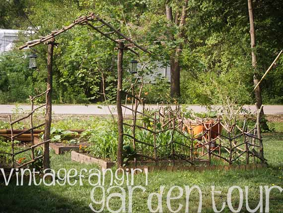 The Vintage Fangirl Veggie and Landscaping Garden Tour