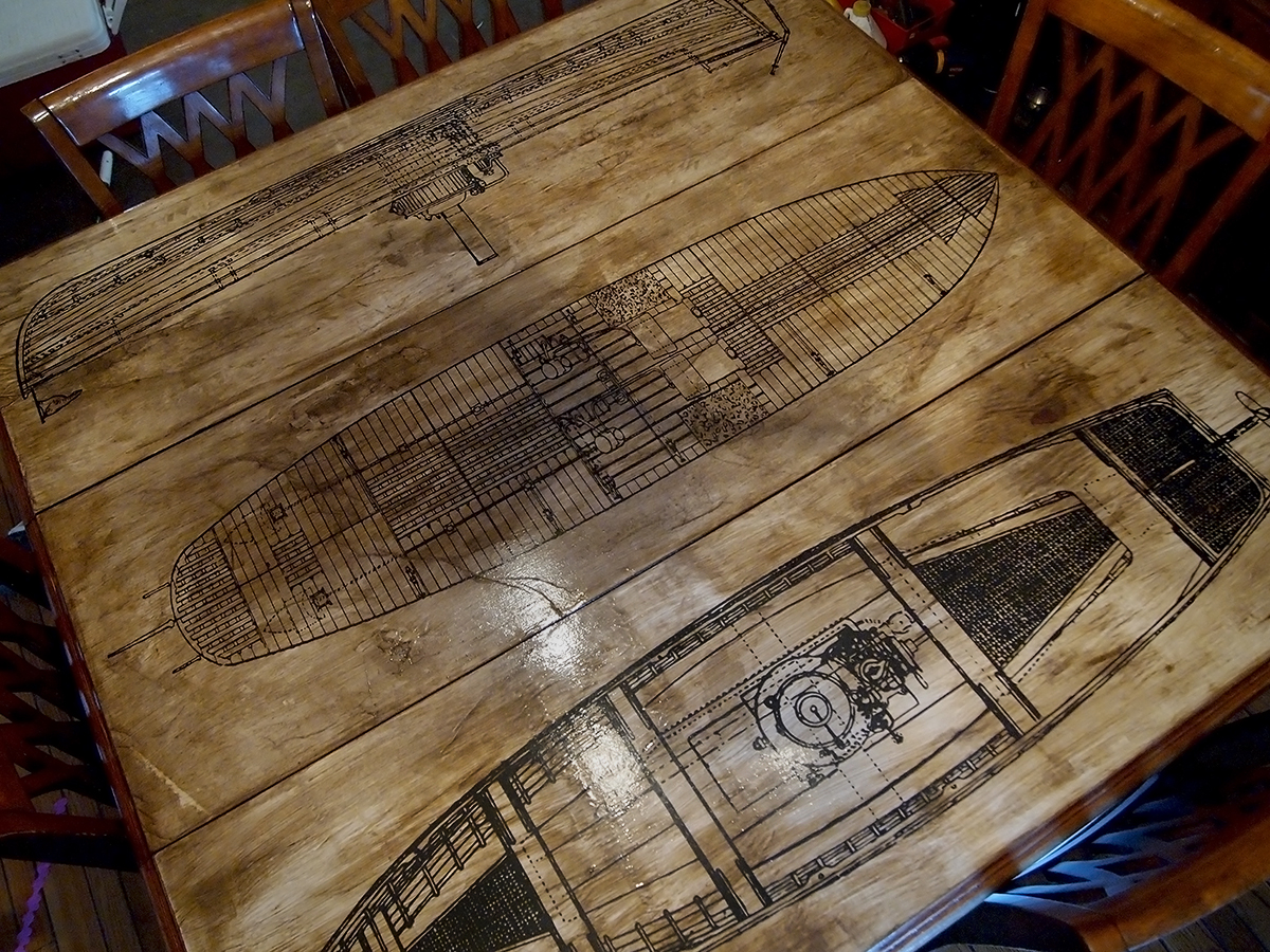 How to aged paper decoupage diy table refinishing project how to aged paper decoupage diy table top refinish geotapseo Image collections