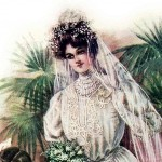 Wedding Dress Fashion Plate from 1906
