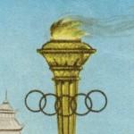 Vintage Summer Olympics Postage Stamp Art