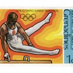 Beautiful Vintage Olympics Commemorative Stamp Art
