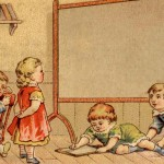 "Vintage ""Back to School"" Victorian Trade Card Ad"