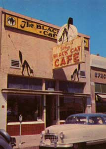 The Black Cat Cafe in the 1950's on Route 66