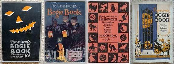 Vintage Halloween Bogie Books Published by Dennison