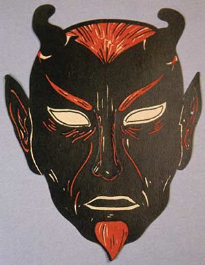Scary Vintage Devil Mask