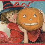 Gorgeous Vintage Halloween Postcard to Print