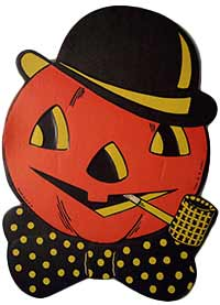 Vintage Beistle Halloween Die Cut Paper Decorations