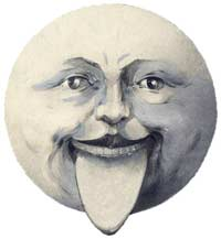 The Graphic Fairy's Vintage Moon Face Art