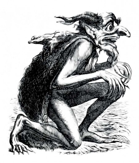 The Demon Eurynome from the 1818 Occult Book The Dictionnaire Infernal