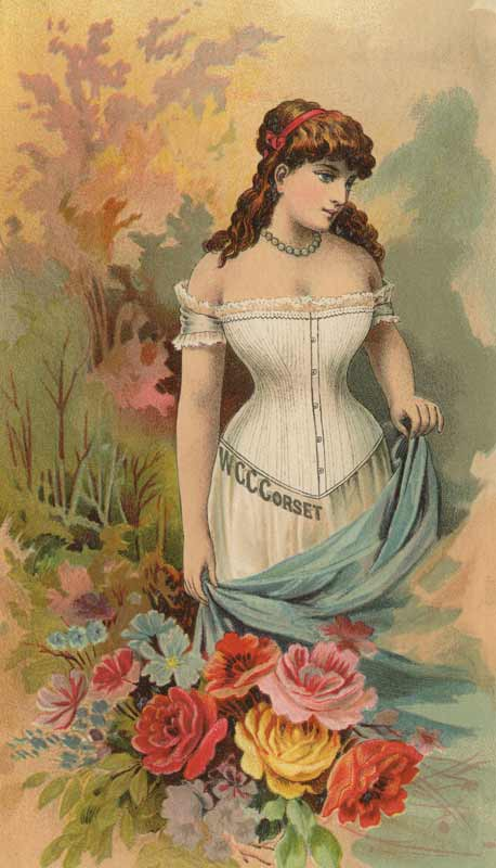 Vintage Women's Lingerie Ad from the WCC Corset Company