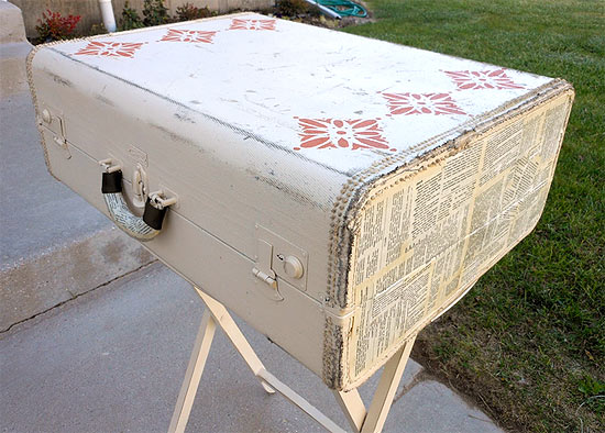Upcycle a Vintage Suitcase into a Side Table With Storage
