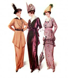 Vintage Fashion Plates - Gowns for Semi-Formal Social Gatherings