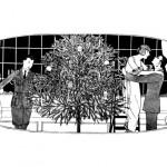 1920's Christmas Tree & Family Scene Printable