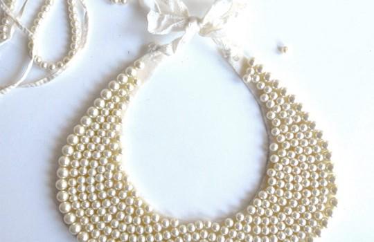 DIY Vintage Beaded Collar