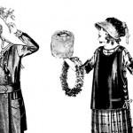 Edwardian-Era Children Celebrating Christmas Vintage Printable