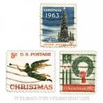 Printable Vintage Christmas Postage Stamps