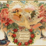 Printable Edwardian Happy Birthday Greetings Postcard