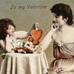 Vintage Hand Tinted Early 1900's Cherub Photo Valentine Postcard