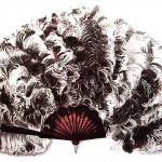 Vintage Clip Art Picture of an Ostrich Feather Fan