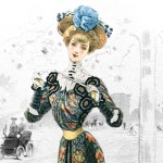 Antique French Fashion Plate from 1901