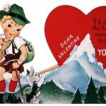 Vintage Traditional German Boy Printable Valentine