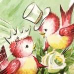 Vintage Wedding Love Birds Valentine in High Resolution