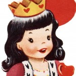 Vintage Queen of Hearts Children's Valentine Printable Card
