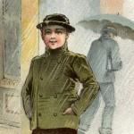 Vintage Victorian Era Rainy Day Rubber Boots Ad