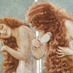Beautiful Painting of a Woman from a Vintage 1919 Shampoo Advertisement